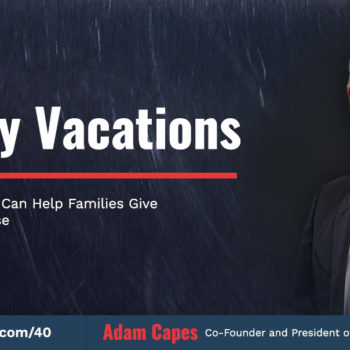 adam capes getaway2give - front row dads